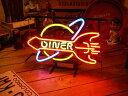 ネオンサイン DINER ネオン管 照明 店舗装飾 インテリア ガレージング アメリカ雑貨 アメリカン雑貨