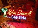 ネオンサイン Palm Beach ネオン管 照明 店舗装飾 インテリア ガレージング アメリカ雑貨 アメリカン雑貨