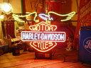 ネオンサイン HARLEY EAGLE ネオン管 照明 店舗装飾 インテリア ガレージング アメリカ雑貨 アメリカン雑貨