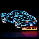 アメリカンネオンサイン <CORVETTE コルベット>サイズ:36×72cm ネオン管 ガレージング アメリカ雑貨 アメリカン雑貨