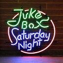 アメリカンネオンサイン JUKE BOX SATURDAY NIGHT (ジュークボックス サタデーナイト ) ネオン管 アメリカンダイナー アメリカ雑貨 …