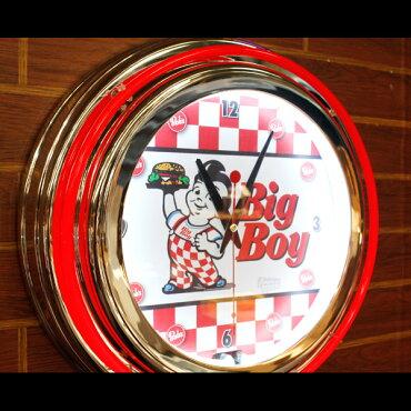 ダブルネオンクロック「ビッグボーイ」(レッド×ホワイト)/BIGBOY/