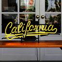 照明 ネオンサイン / California (イエローネオン) 縦27×横65cm カリフォルニア ガレージ インテリア ネオン管 電飾 店舗装飾 アメ…