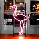 アメリカンネオンサイン PINK FLAMINGO 縦55×横34cm フラミンゴ ガレージ インテリア ネオン管 電飾 店舗装飾 アメリカ雑貨 アメリカ…