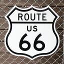 トラフィックサイン「Route US 66」ダイカットタイプ ルート66 アメリカの道路標識 アメリカ雑貨 アメリカン雑貨