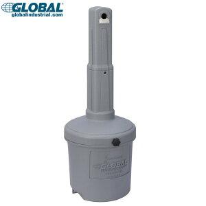 灰皿 グローバルインダストリアル アウトドア灰皿 5ガロン (グレー) Global Industrial 屋外用 スタンド アシュトレイ 喫煙具 アメリカン雑貨