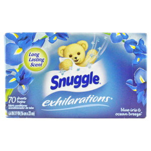 スナッグル シート柔軟剤 EX ブルーアイリス&オーシャンブリーズ 70枚 Snuggle 洗濯用品 日用品 アメリカ雑貨 アメリカン雑貨