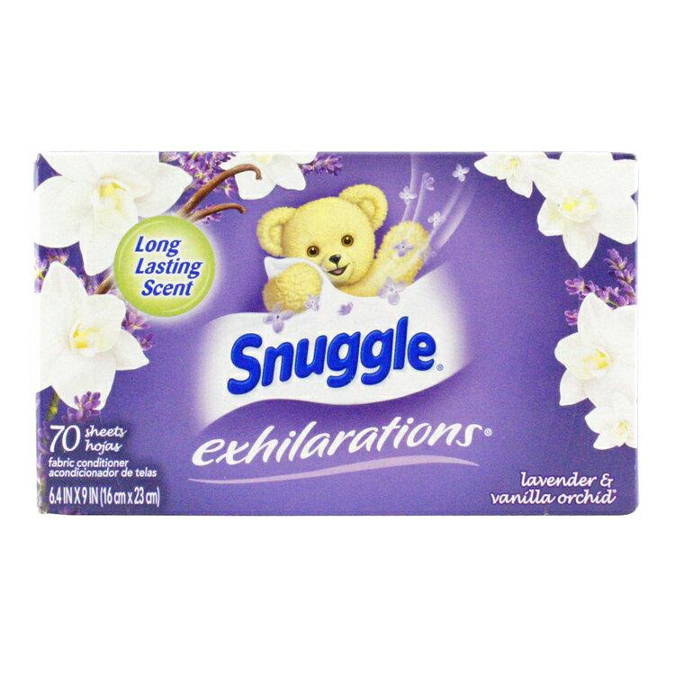 スナッグル シート柔軟剤 EX ラベンダー&バニラオーキッド 70枚 Snuggle 洗濯用品 日用品 アメリカ雑貨 アメリカン雑貨