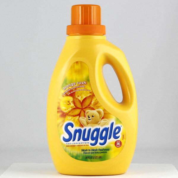 Snuggle スナッグル柔軟剤 オレンジラッシュ 26回分1890ml (64oz ) 非濃縮タイプ 衣類用柔軟剤 アメリカ製 アメリカ雑貨 アメリカン雑貨