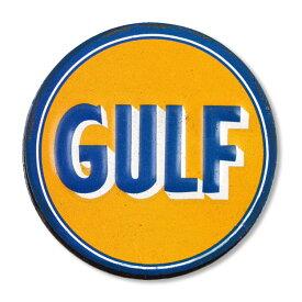 USエンボスマグネット GULF/ガルフ φ5.7cm 磁石 冷蔵庫マグネット ステーショナリー アメリカ雑貨
