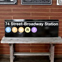 NEW YORK サブウェイサイン (L ) 「74 St -Broadway」 SW-3-L ニューヨークの地下鉄看板 ストリートサイン アメリカ雑貨 アメリカン…