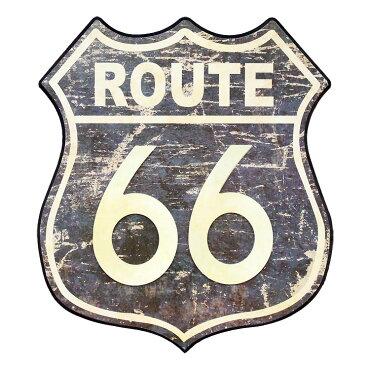 壁面オブジェ木製看板ダイカットプラークRoute66ルート66#72682インテリアアメリカ雑貨アメリカン雑貨