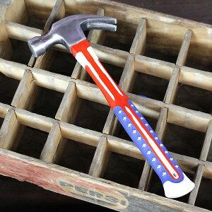 工具 おしゃれ USAフラッグ柄 ハンマー (シルバー) 星条旗 アメリカ 国旗 金槌 アメリカン雑貨 アメリカ雑貨