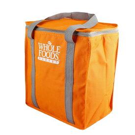 保冷バッグ ホールフーズ オレンジ WHOLE FOODS MARKET クーラーバッグ アメリカ雑貨 アウトドア キャンプ バーベキュー