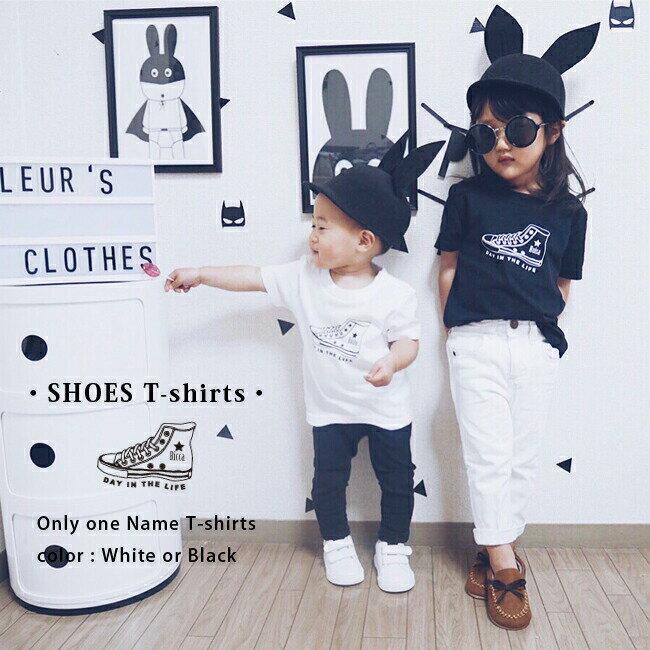 名入れ プレゼント スニーカー Tシャツ 出産祝い ギフト 子供 キッズ 服 シンプル オシャレ シューズ