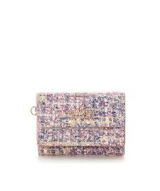 サマンサタバサ 折財布 ソフトツイード ミニ財布 ピンク SamanthaThavasaPetitChoice サマンサ タバサ プチチョイス