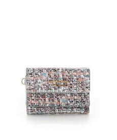 サマンサタバサ 折財布 ソフトツイード ミニ財布 ミント SamanthaThavasaPetitChoice サマンサ タバサ プチチョイス