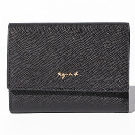 アニエスべー 財布 折財布 三つ折り ブラック agnes b アニエス ベー ボヤージュ