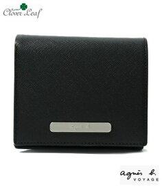 アニエスベー 財布 二つ折り ブラック