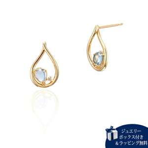 ヨンドシー 4℃ K10イエローゴールド ピアス トパーズ ダイヤモンド