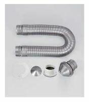リンナイ 部材【DPS-80K】ダンパー付排湿管セット (φ80)