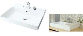 ###INAX/LIXIL 角形洗面器 ベッセル式【YL-A401SYACNA(C)V】(ワイドスクエアタイプ) 寒冷地 シングルレバー混合水栓(キュビア) 床排水(Sトラップ) 壁給水