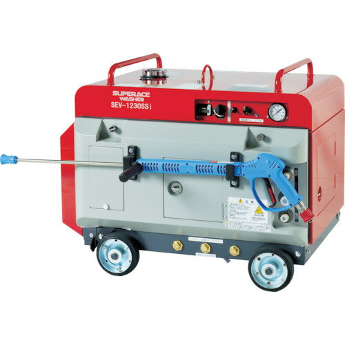 『カード対応OK!』##■〒スーパー工業【SEV-1230SSI】(4953959) エンジン式 高圧洗浄機 SEV−1230SSi(防音型) 受注単位1