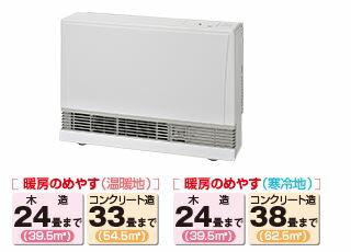 『カード対応OK!』リンナイ ガスFF暖房機【RHF-1005FT】暖房のめやす:木造24畳/コンクリート33畳まで
