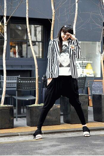 【ランキング入賞】サルエルパンツ大人サルエル楽チンゆるっと履き心地レディースロング丈10分丈七分丈カジュアルきれいめシルエットがきれいゆるカワかわいいウエストゴムレディススウェットスエットダンス衣装LL無地黒薄手春夏