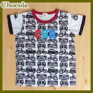【SALE】chocola【ショコラ】クルマ半袖Tシャツ【オートミール】1300490cm−130cm【ベビー キッズ 子供服 ナチュラル かわいい アウトドア 乗り物】