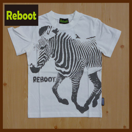 Reboot【リブート】シマウマ 半そでTシャツ1781301 120cm〜160cm2017新作【ベビー キッズ 動物 アニマル お揃い】【8000円以上送料無料】スーパーセール