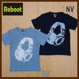 Reboot【リブート】ヘッドホン 半そでTシャツ1781326 130cm〜160cm2017新作【ベビー キッズ 動物 アニマル お揃い】【8000円以上送料無料】スーパーセール