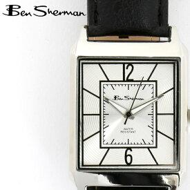 ベンシャーマン Ben Sherman 腕時計 シルバーフェイス レクタングル 長方形 縦長 メンズ モッズ ギフト