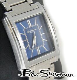ベンシャーマン Ben Sherman ディープ ブルー レクタングル アナログ 腕時計 メンズ プレゼント ギフト