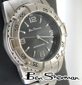 ベンシャーマン Ben Sherman ブラック ダイバーズ 腕時計 メンズ 【送料無料】 モッズ ファッション ウォッチ アナログ シルバー ステンレス スティール UKモッズ BenSherman r667 プレゼント ギフト