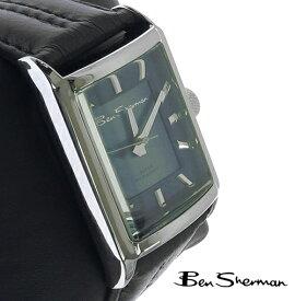 ベンシャーマン Ben Sherman オーシャン ブルー トーン フェイス レクタングル 腕時計 メンズ プレゼント ギフト