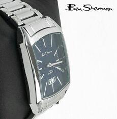 BenShermanディープブルーフェイス腕時計サークル【送料無料】メンズベンシャーマン2014新作縦長モッズファッションステンレススティールベルトStainlessSteel腕時計アナログウォッチUKモッズr790