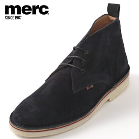 メルクロンドン メンズ ブーツ シューズ スウェードレザー Merc London デザート ネイビー モッズ プレゼント ギフト
