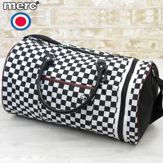 セール メルクロンドン Merc London スカ チェッカー バレルバッグ 46cm×26cm×22cm メンズ レディース モッズ プレゼント ギフト