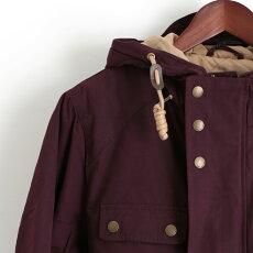 メルクロンドンMercLondonショートパーカジャケットキルティングW1プレミアムワインレトロメンズモッズファッションプレゼントギフト