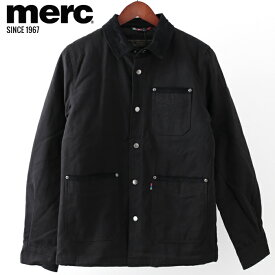メルクロンドン メンズ ワークジャケット Merc London W1 プレミアム 2019 新作 ブラック Jacket ジャケット モッズファッション プレゼント ギフト