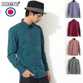 メルクロンドン Merc London ギンガムチェック 長袖シャツ 6色 メンズ モッズファッション プレゼント ギフト