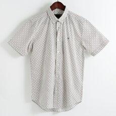 メルクロンドンMercLondon半袖シャツストライプポルカドット18SS新作2色ホワイトネイビーW1プレミアムメンズモッズファッションプレゼントギフト