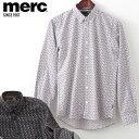 メルクロンドン メンズ 花柄シャツ フラワー Merc London 長袖シャツ W1 プレミアム 2色 ブラック ホワイト モッズフ…