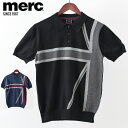 メルクロンドン メンズ ポロシャツ ポロ ニット ユニオンジャック Merc London W1 プレミアム ブラック ネイビー モッ…