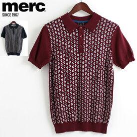 メルクロンドン Merc London ポロシャツ ニット ペイズリー 2色 バーガンディー ネイビー W1 プレミアム メンズ モッズファッション プレゼント ギフト