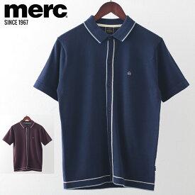 メルクロンドン メンズ ポロシャツ ポロ ライン ニット 20SS 新作 2色 グレープ ネイビー Merc London モッズファッション プレゼント ギフト