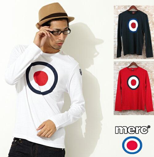 メルクロンドン Merc London 3色 ターゲットマーク ロングTシャツ レトロ T シャツ メンズ プレゼント ギフト