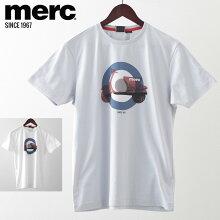 メルクロンドンメンズTシャツターゲットマークスクーターベスパVESPAMercLondon20SS新作2色ボーイブルーホワイトレトロプレゼントギフト