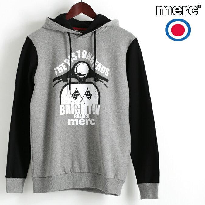 セール メルクロンドン Merc London パーカ フーディー グラフィック スクーター ブラック W1 プレミアム メンズ ベスパ VESPA モッズファッション プレゼント ギフト